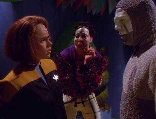 B'Elanna talks to The Clown