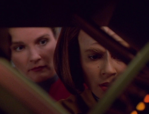 B'Elanna and Janeway try to hack the Clown's environment