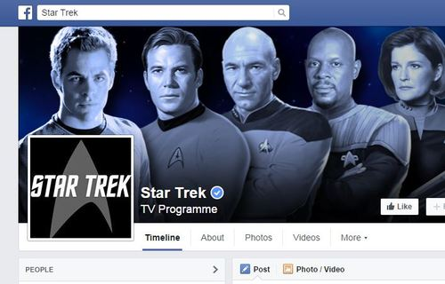 Banner of the Star Trek Facebook Page