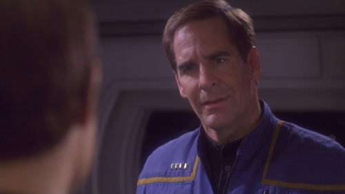 Archer looks angrily at T'Pol