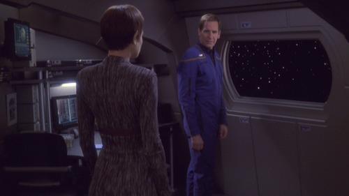 Archer talks to T'Pol back on Enterprise