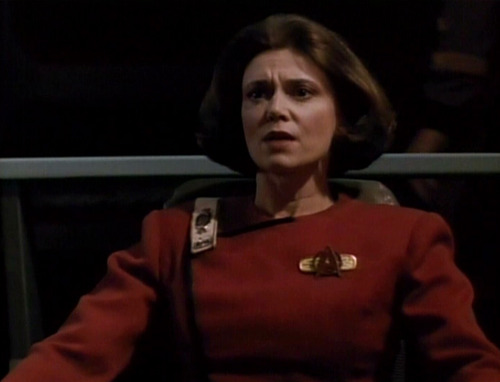 Rachel Garrett commands the Enterprise-C