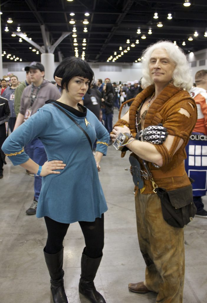 me as Vulcan with Khan cosplayer
