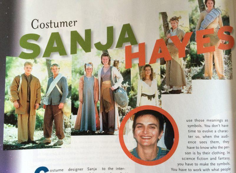 "Magazine headline ""Costumer Sanja Hayes"""