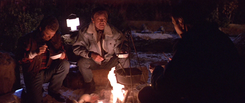 Kirk, Bones and Spock around the campfire
