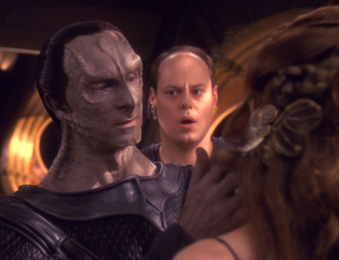 Dukat touches Meru's Face