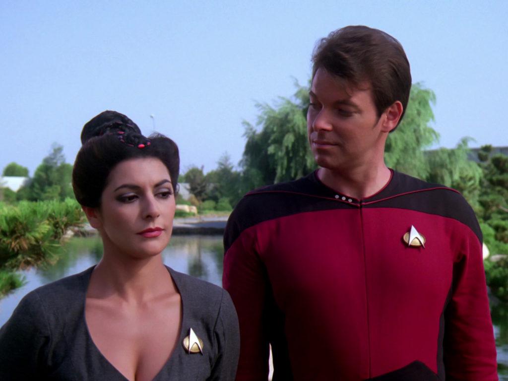 Troi side-eyes Riker