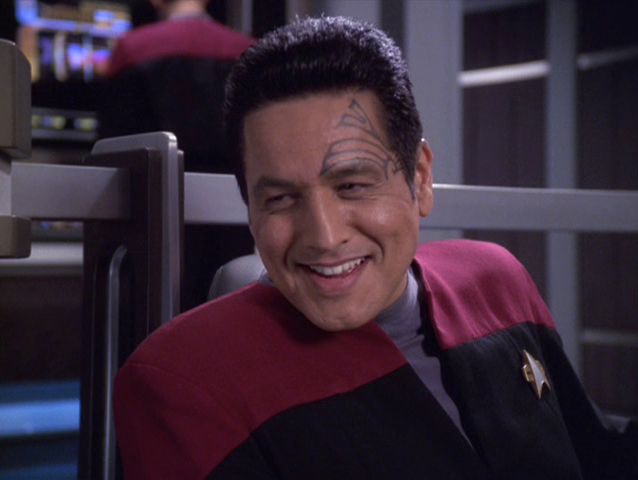 Chakotay teases Janeway about it on the bridge