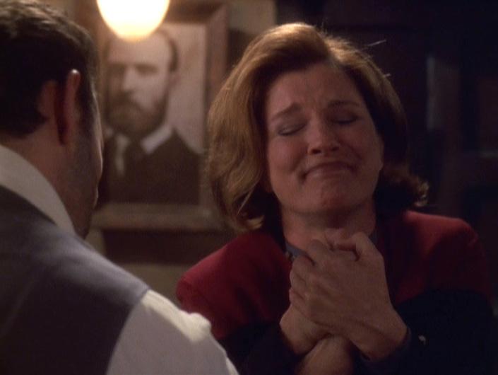 Janeway grabbing Michael's hand