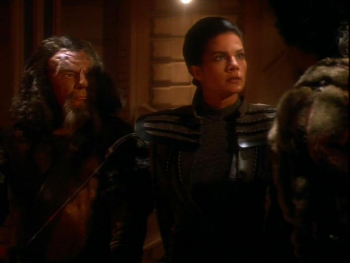 Dax in her Klingon gear