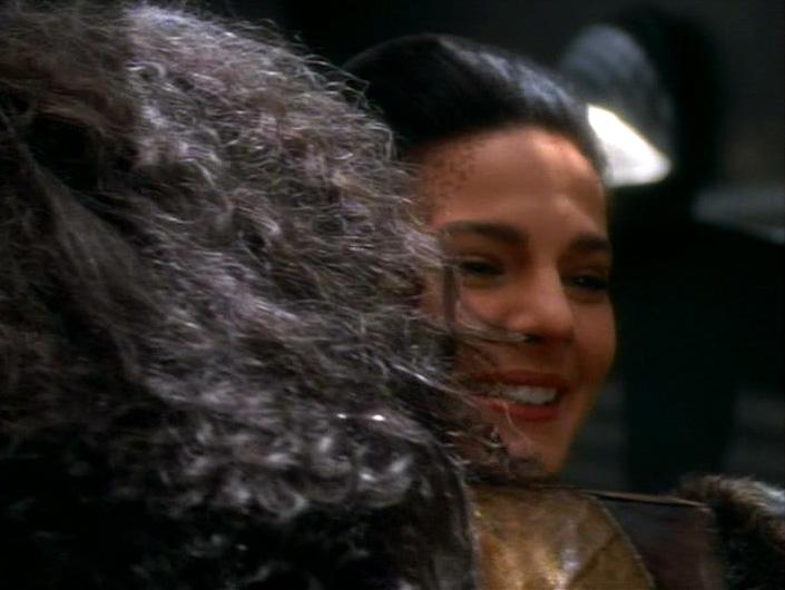 Jadzia hugs back