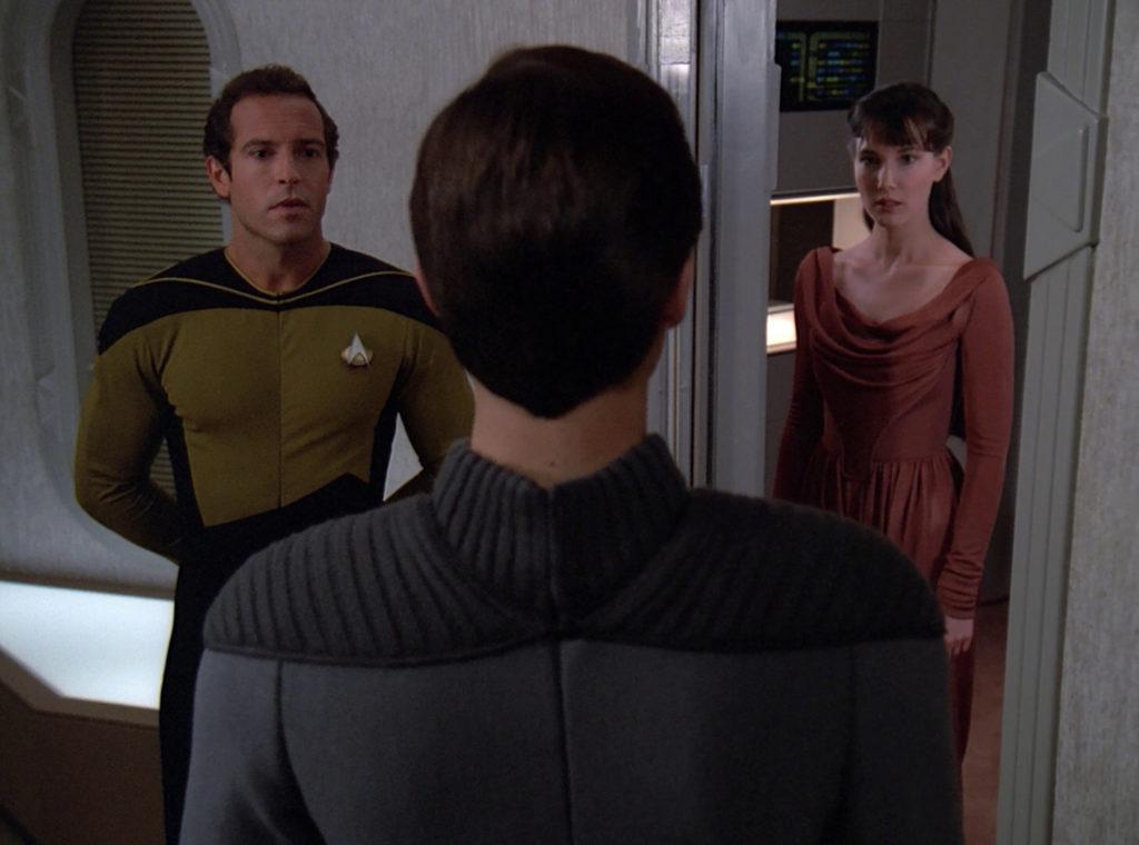 Wesley greets Salia at her door