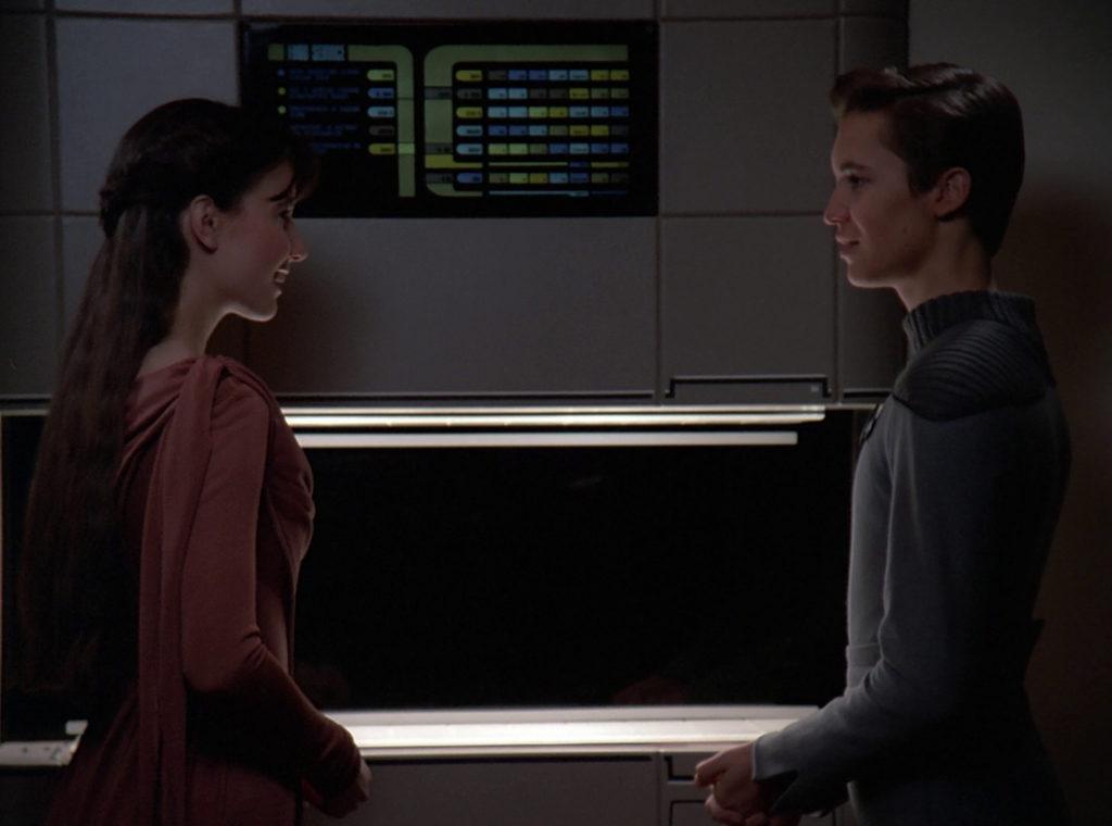 Wesley and Salia at the replicator