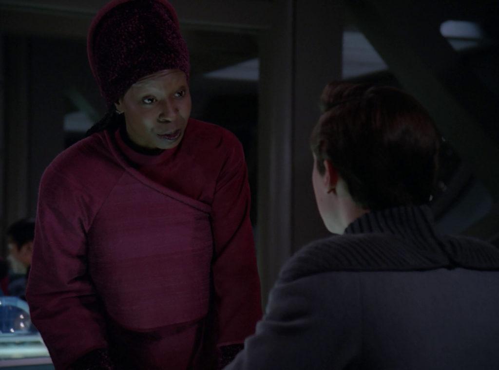 Guinan talks to Wesley