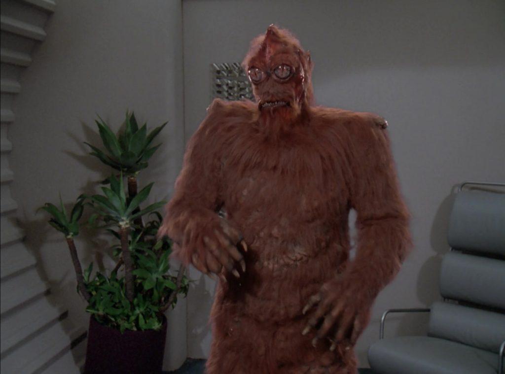 Salia's orange furry monster