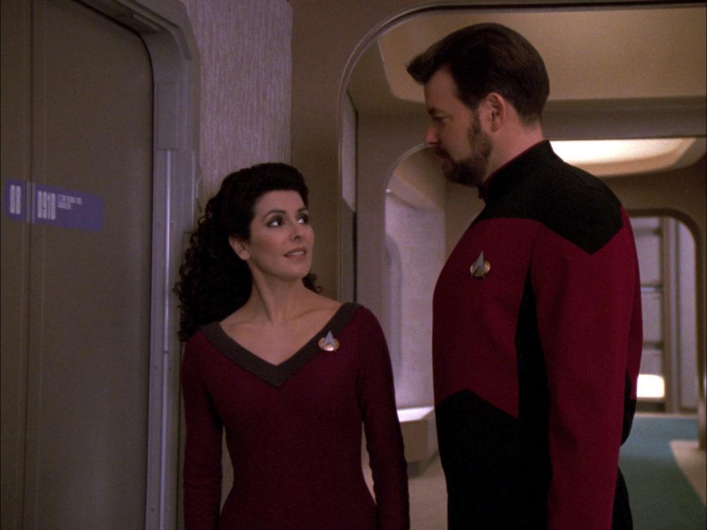 Troi invites Riker in