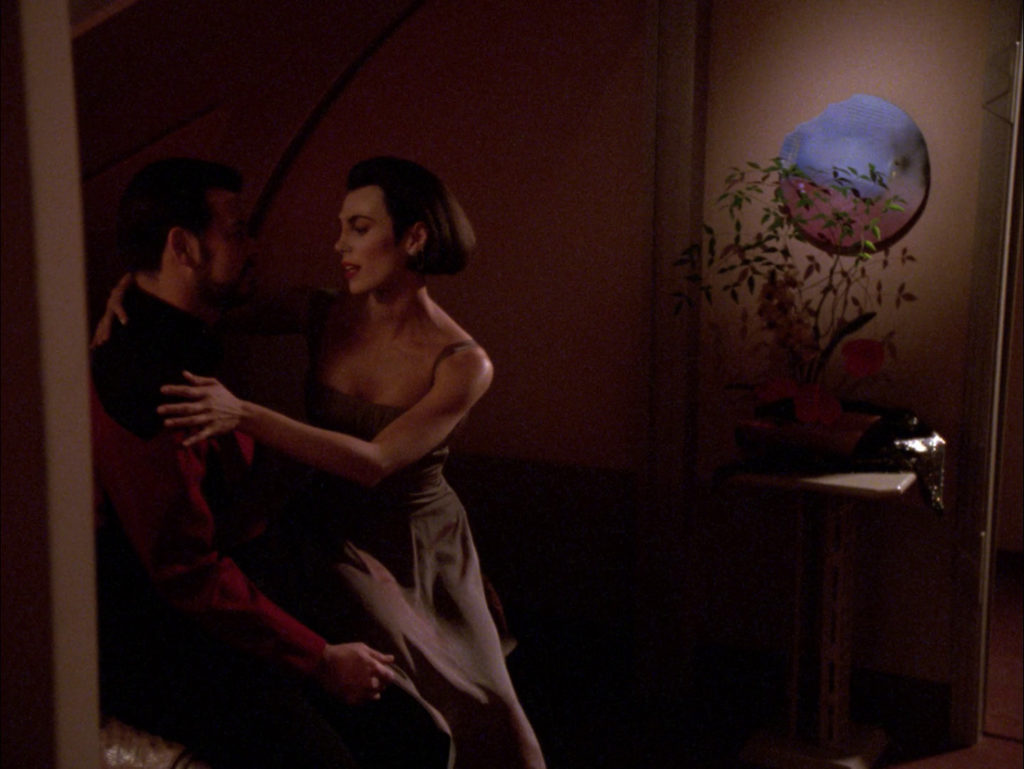 Ro and Riker embrace