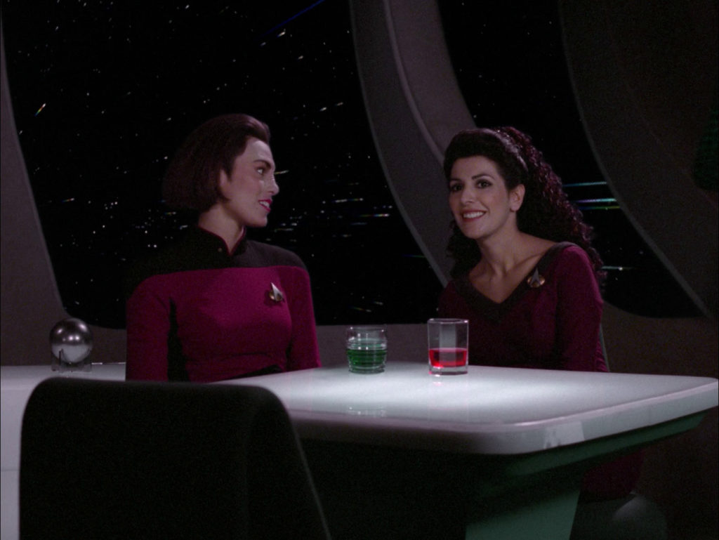 Ro and Troi tease Riker