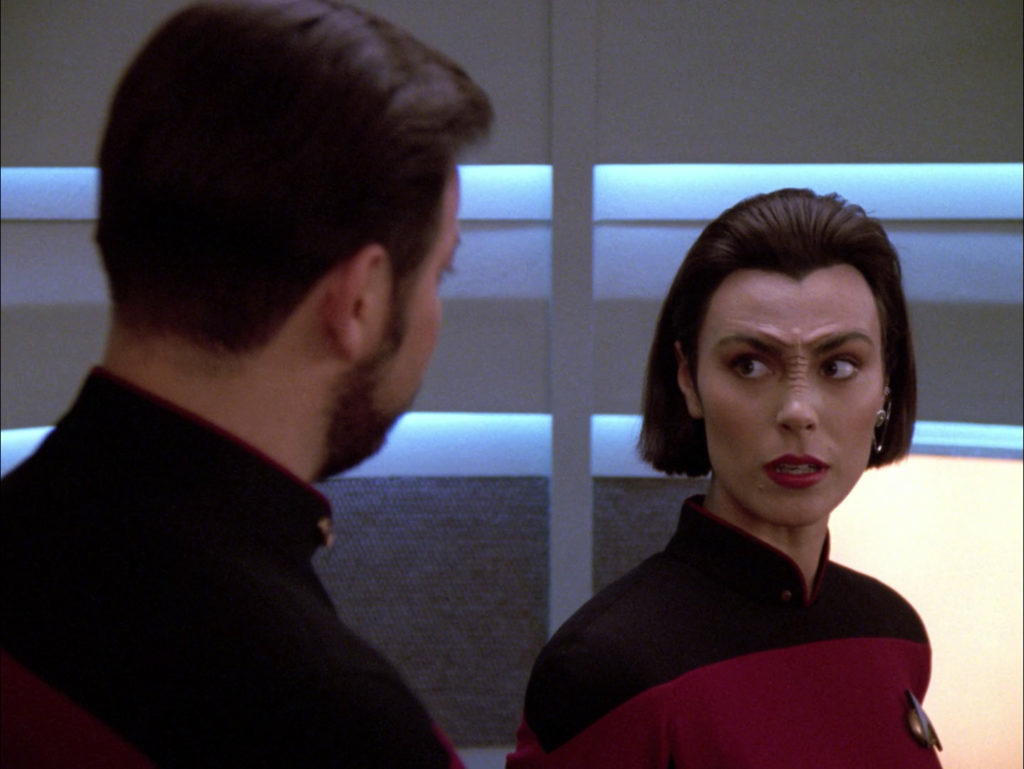 Riker and Ro argue