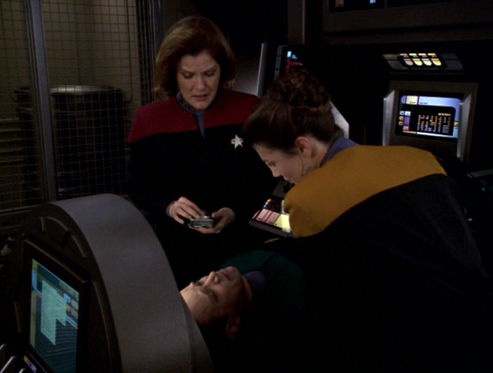 Janeway and Celes treat Telfer