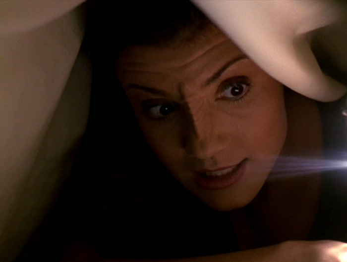 Tal Celes under her blanket