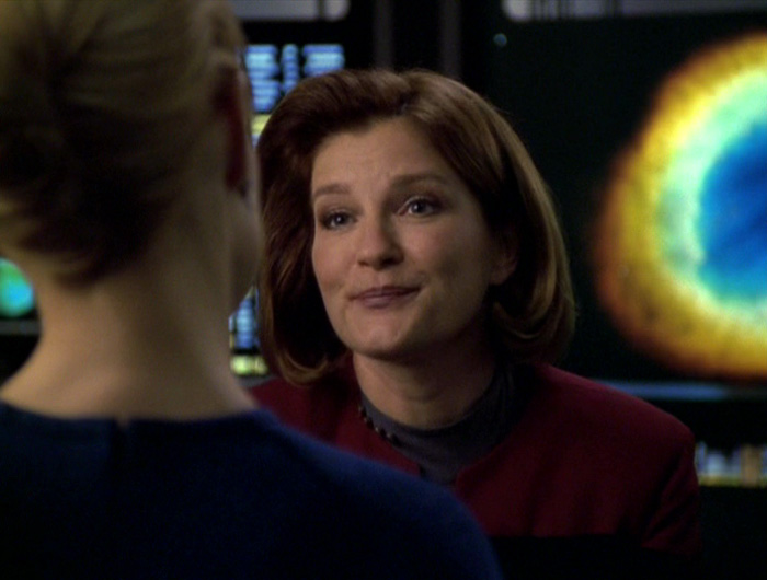 Janeway and Seven discuss what Janeway is trying to do