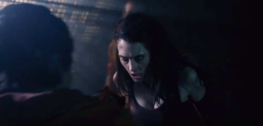 Lexxa beats up a Cardassian