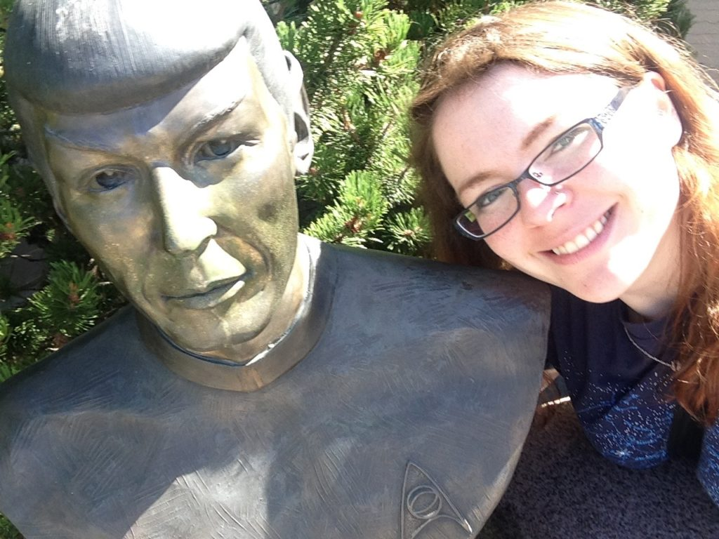 Me with the bust of Spock in Vulcan