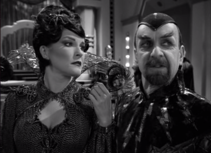 Janeway as Arachnia with Dr. Chaotica