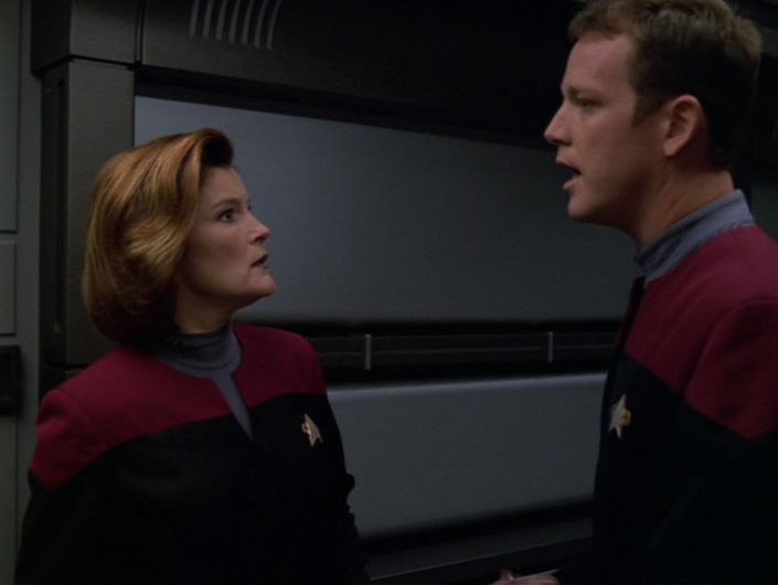 Janeway looks shocked at Paris