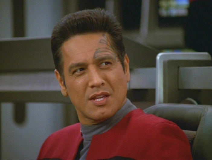 Chakotay looks utterly disgusted