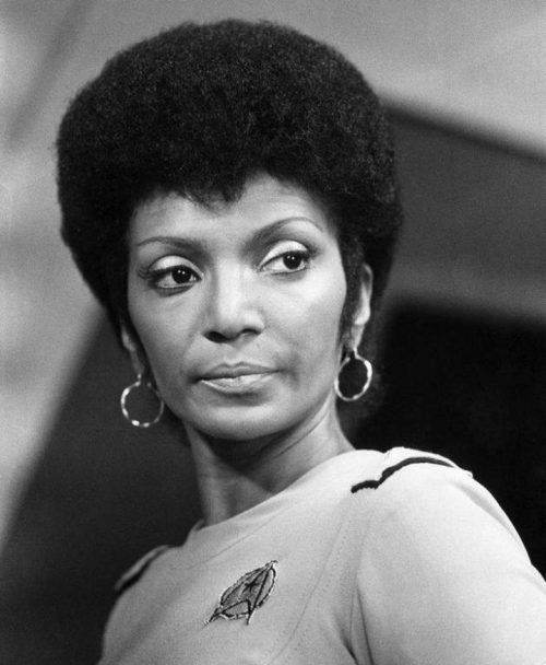 Uhura with her short Afro in The Motion Picture