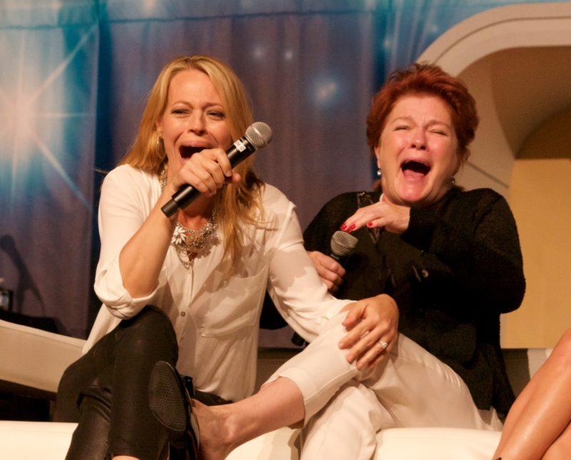 Jeri Ryan and Kate Mulgrew laughing