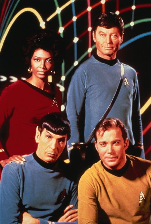 Uhura, Spock, McCoy and kirk