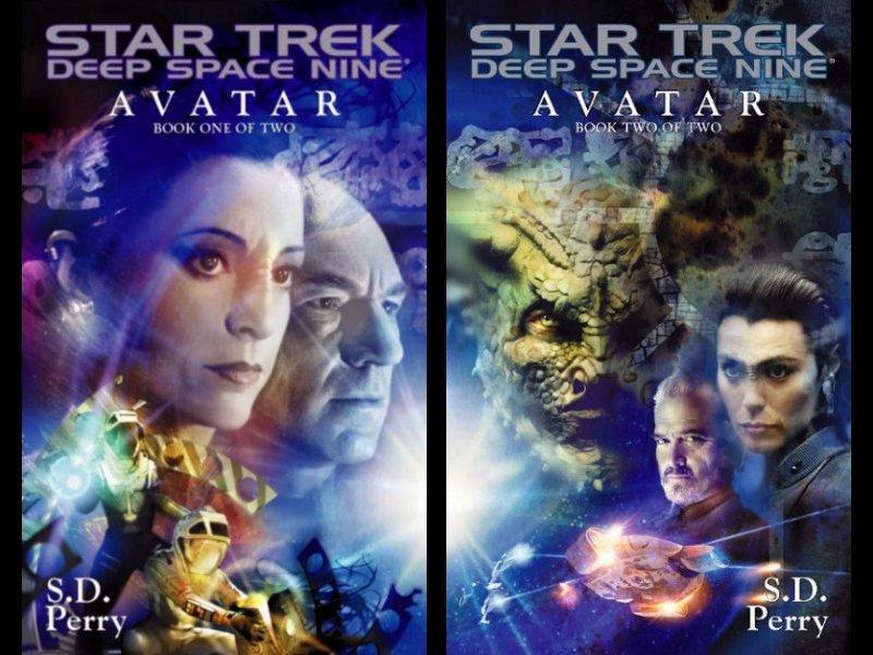 Star Trek Avatar book covers