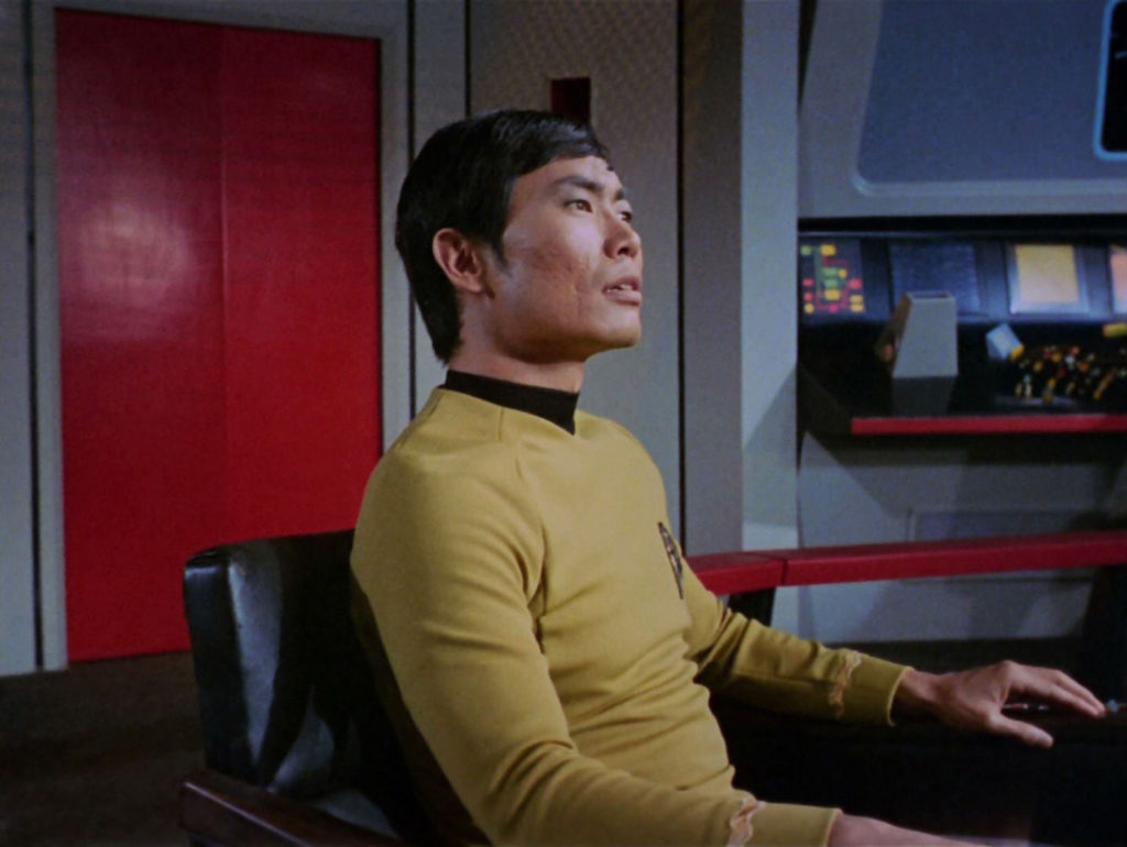 Sulu in the Captain's chair