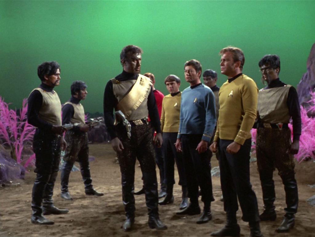 the Klingon and Starfleet away teams