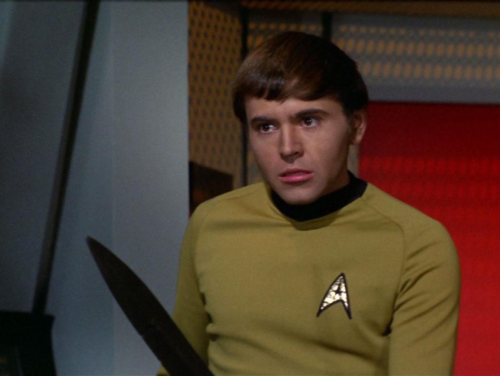 Chekov with a sword, looking menacing