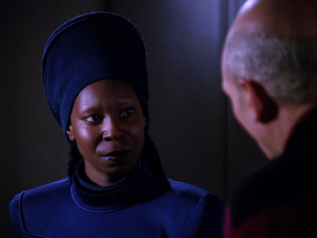 Guinan persuades Picard