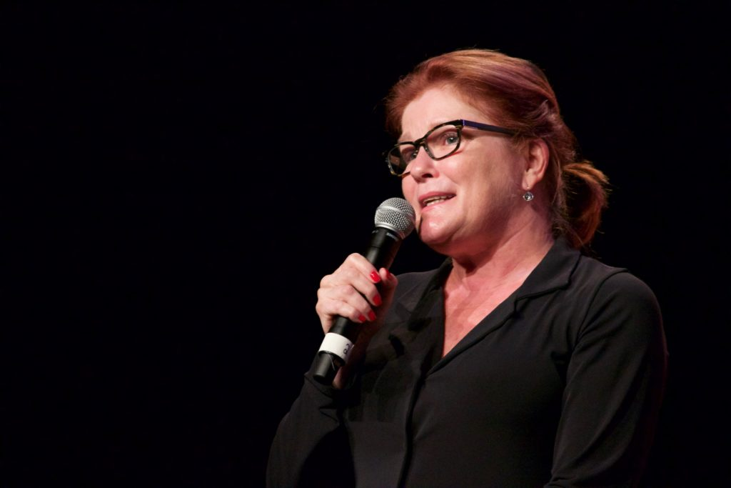 Kate Mulgrew on stage at Montreal Comiccon 2016