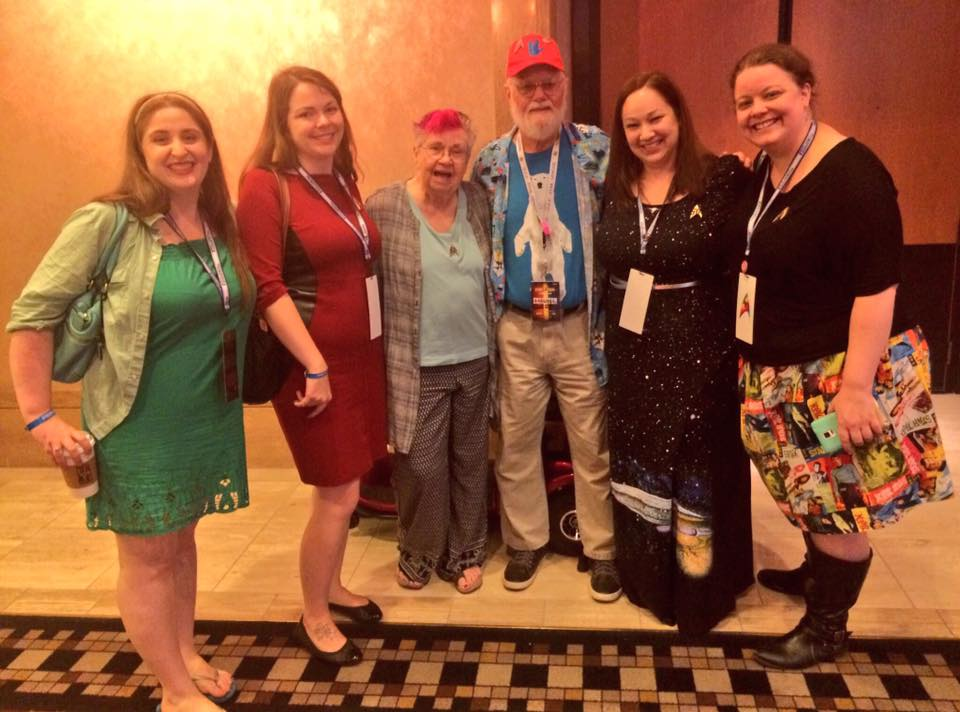 Bjo and John Trimble and the Women at Warp Crew