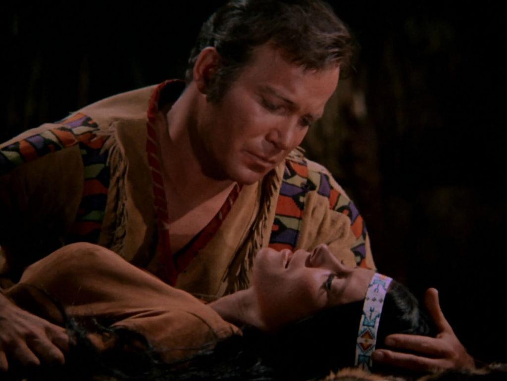 Kirk holds his dead wife Miramanee