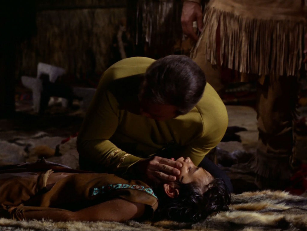 Kirk gives a Native boy mouth to mouth