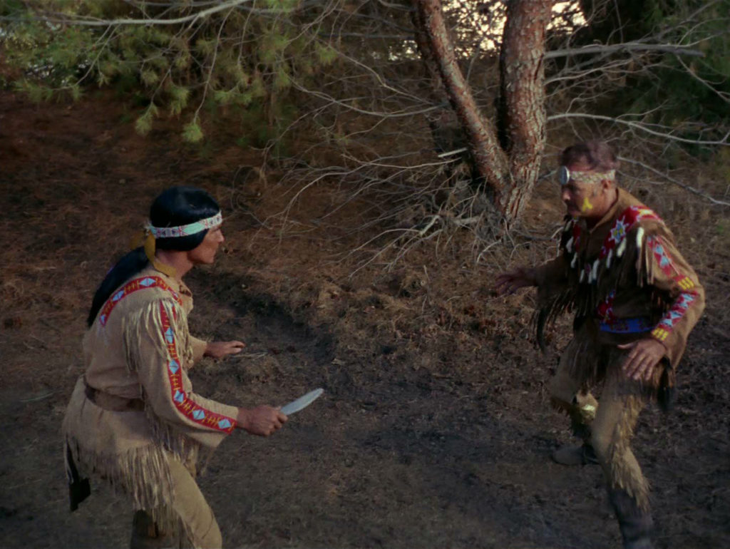Salish comes at Kirk with a knife