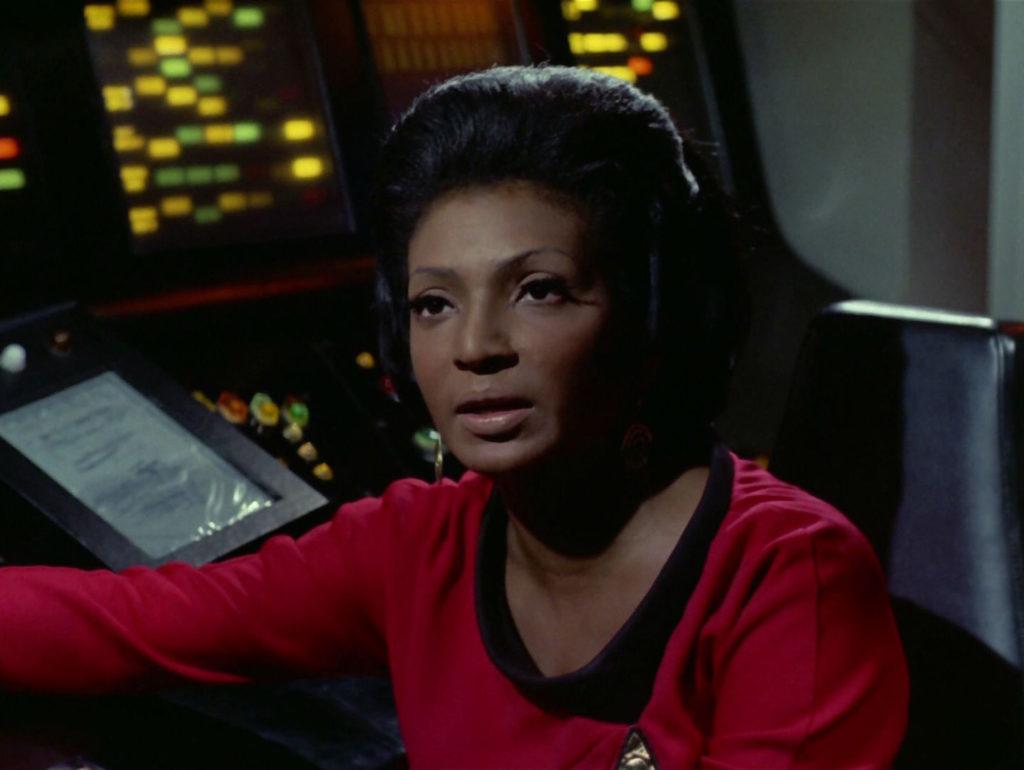 Uhura looking fed up