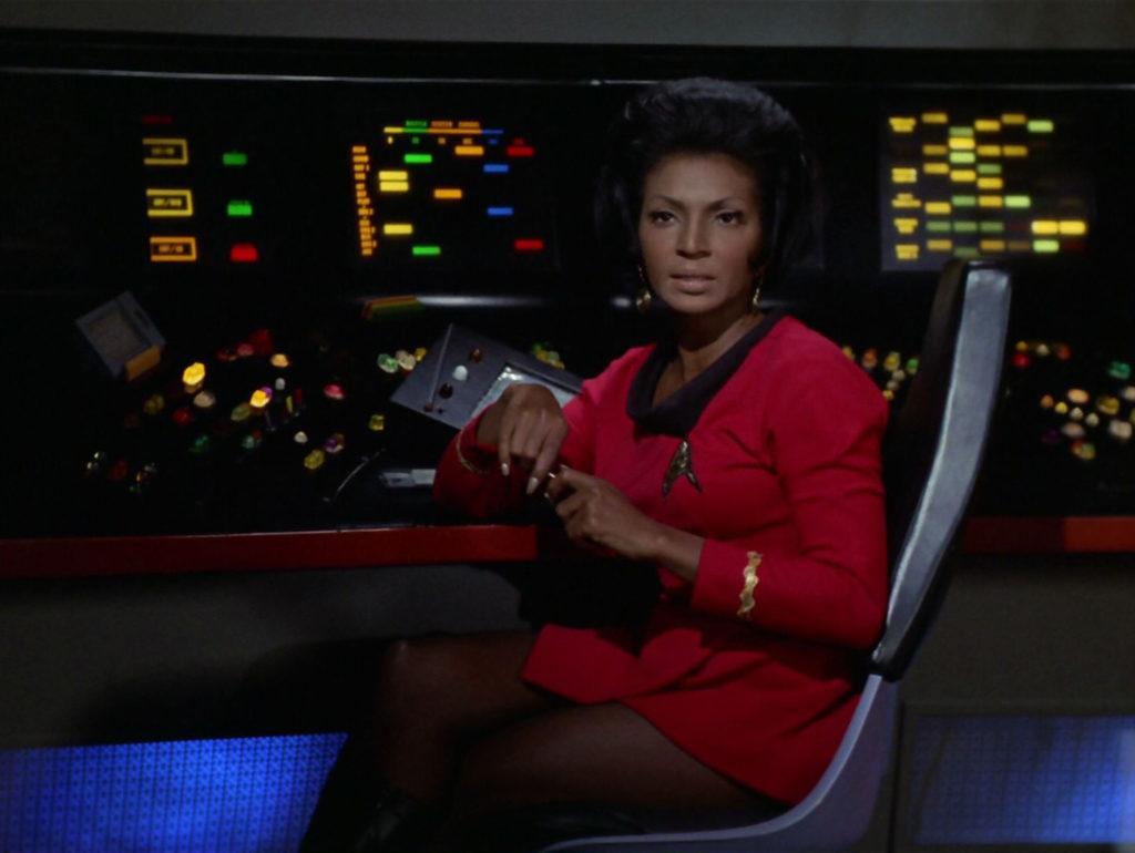 Uhura looking unimpressed