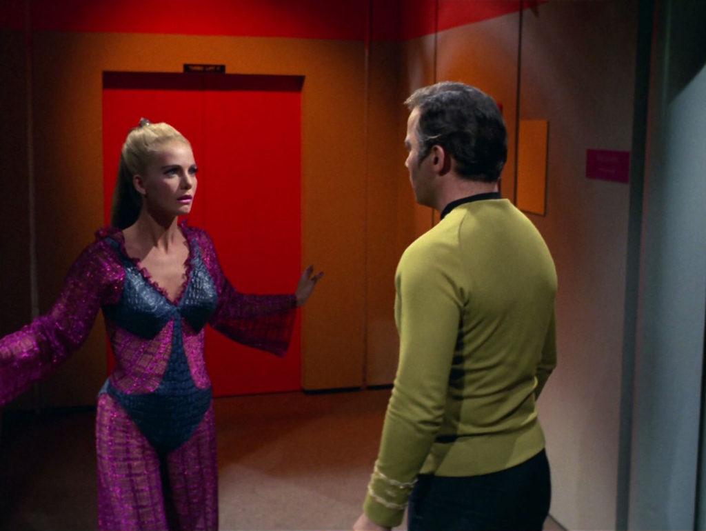 Kirk sees Odona in the corridor